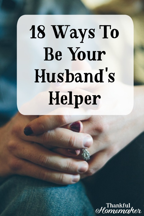Take a peek with me as we see how we as women can carry out our God-given role as helper to our husbands. #helper #helpmeet @mferrell