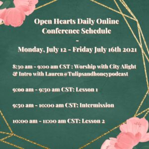 Open Hearts in a Closed World Schedule