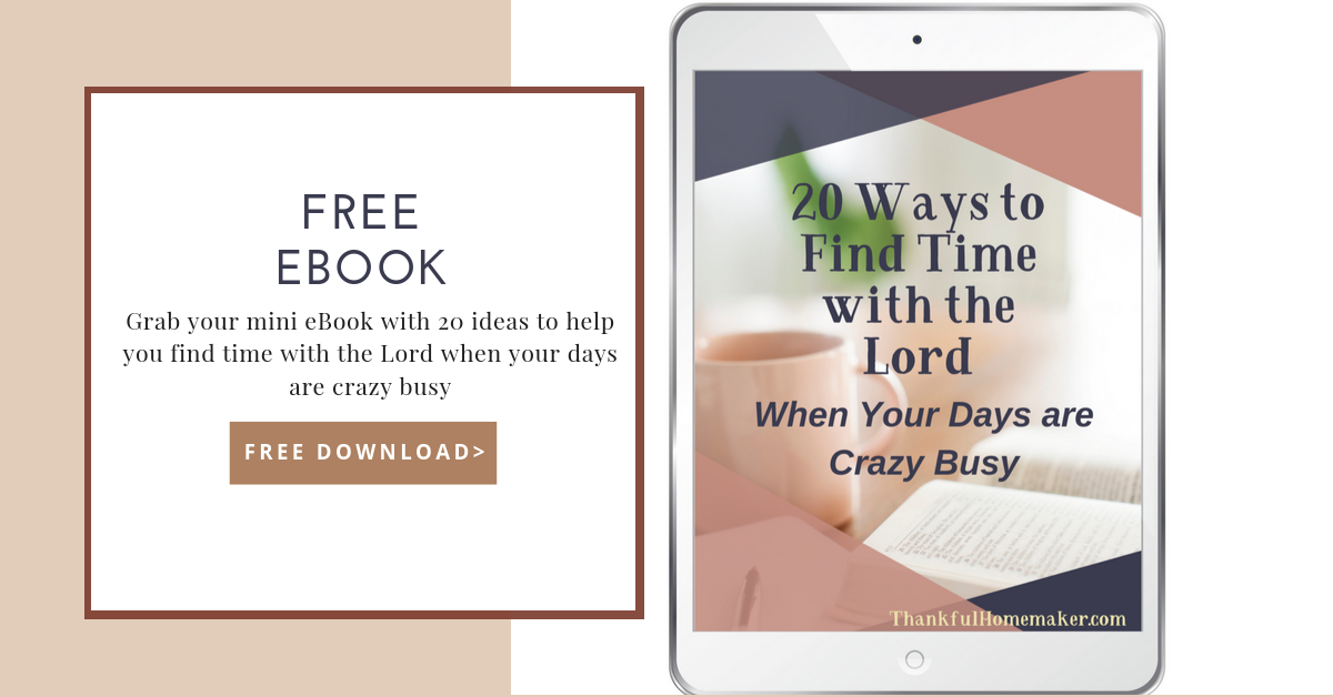 20 Ways to Find Time with the Lord When Your Days are Crazy Busy. {Free PDF Download} @mferrell