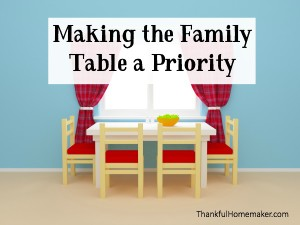 Making the Family Table a Priority