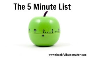 The 5 Minute List