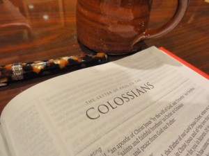 Memorizing Colossians – July Encouragement