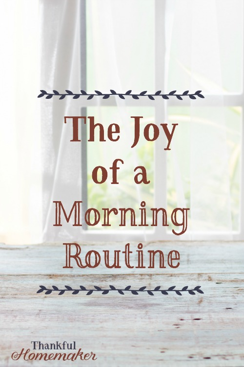 I love mornings.  My morning routine has helped me to enjoy mornings even more because it gives me a good jump start to my day. @mferrell