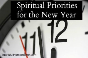 Spiritual Priorities for the New Year