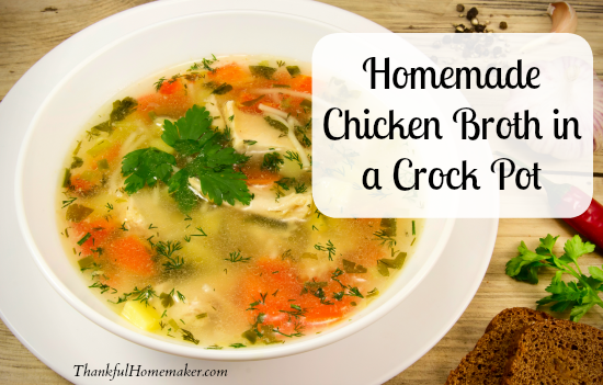 Homemade Chicken Broth From Your Crock Pot Recipe — Dishmaps