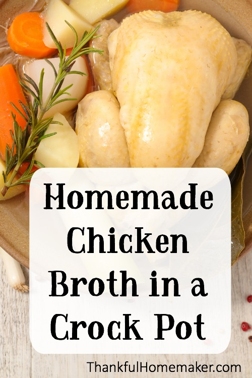Super simple recipe to make homemade broth in your Crock Pot. @mferrell