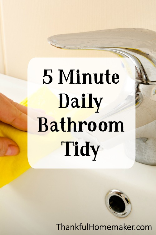 Here is my quick checklist to keep my bathroom looking company ready all the time. @mferrell