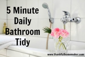 5 Minute Daily Bathroom Tidy