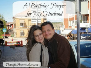 A Birthday Prayer for my Husband