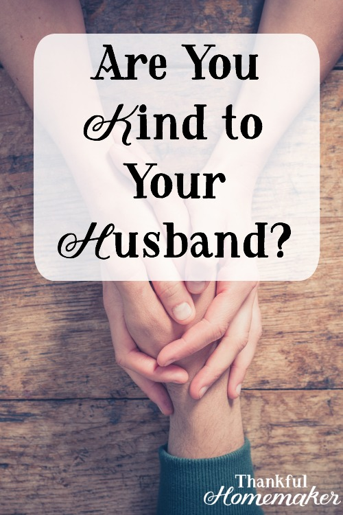 "God's Word tells us to ""put on"" kindness.  Lets look at some ways we can extend kindness to our husbands on a daily basis. #christianmarriage #husbands  @mferrell"