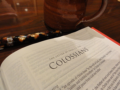 Memorizing Colossians – November Encouragement