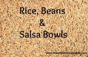 Favorite – Fast – Easy – Rice, Beans & Salsa Dinner