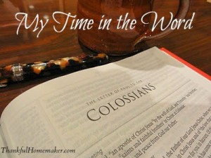 My Time in the Word
