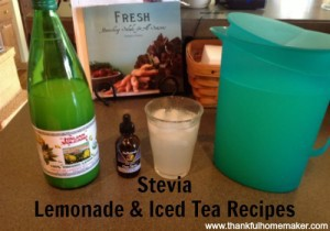 Stevia Lemonade & Iced Tea Recipes