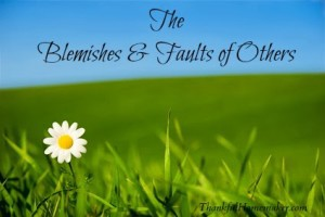 The Blemishes & Faults of Others