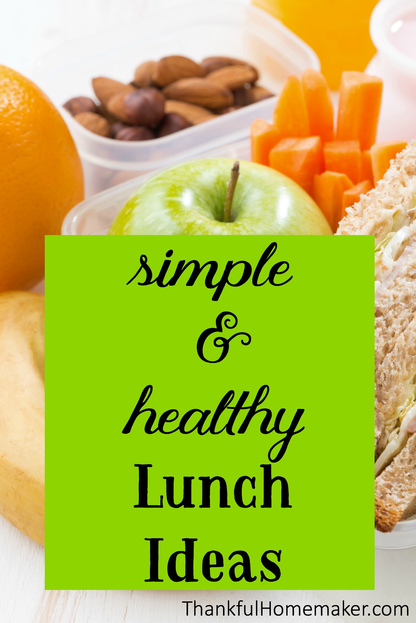 simple healthy lunch ideas