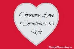 Christmas Love – 1 Corinthians 13 Style