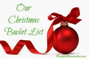 Our Christmas Bucket List