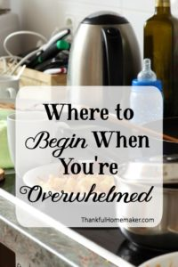 Homemaking 101 Series:  Where to Begin When You're Overwhelmed
