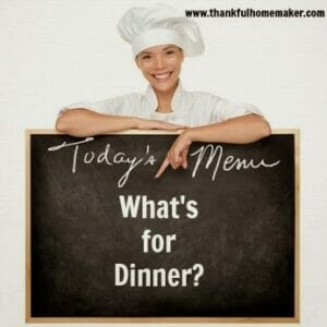 Homemaking 101 Series:  Menu Planning