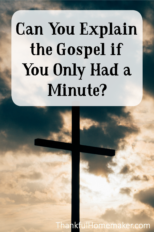 So, what if you only had minutes with someone to share the gospel? Could you do it? @Mferrell
