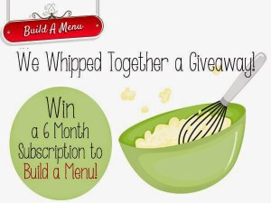 Simplify Your Summer Meal Planning – Build a Menu Giveaway!
