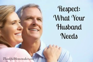 Respect: What Your Husband Needs