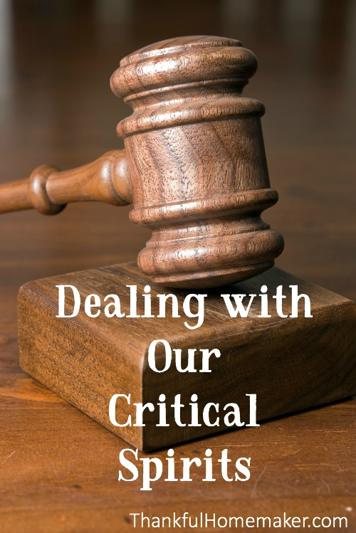 I'm addressing when we have a critical or judgmental spirit against others and I'm specifically talking when it is against our brothers and sisters in the faith. @mferrell