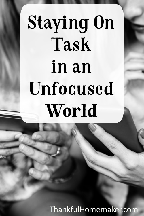 I have a confession to make - I am a bit unfocused. I have a hard time staying on task and have to work diligently at it. @mferrell