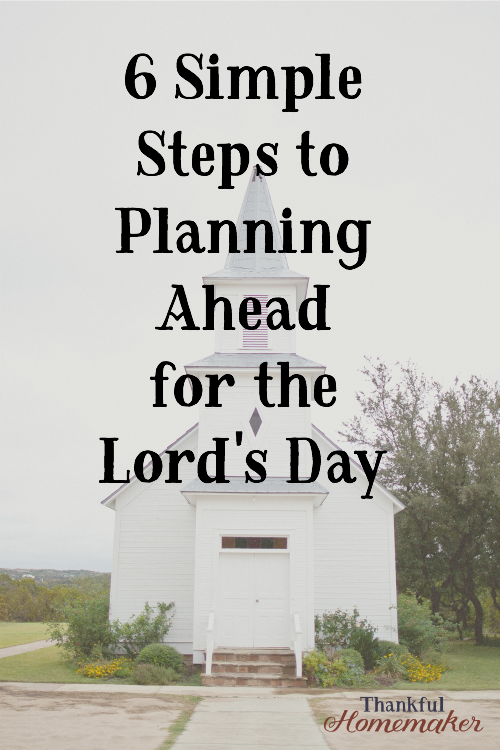As Christians, Sunday should be the most important day of the week. #planningforchurch #planningforSundaymornings #preparingfortheLordsday @mferrell
