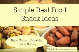 Simple Real Food Snack Ideas – Baby Steps to Healthy Living Series
