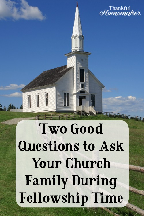 Here are two simple but very good questions to ask other believers when we are together: @mferrell