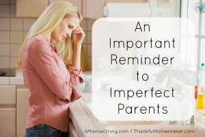 An Important Reminder to Imperfect Parents
