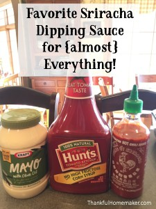Favorite Sriracha Dipping Sauce for {almost} Everything!