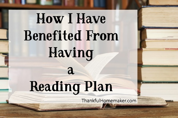 How I Have Benefited From Having a Reading Plan