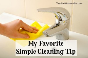 My Favorite Simple Cleaning Tip