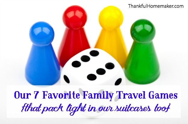 Our 7 Favorite Family Travel Games {that pack light in our suitcases too}