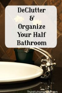 Declutter & Organize Your Half Bathroom
