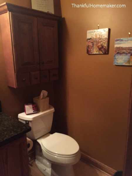 Deep Cleaning Your Half Bath - Toilet Area - @mferrell