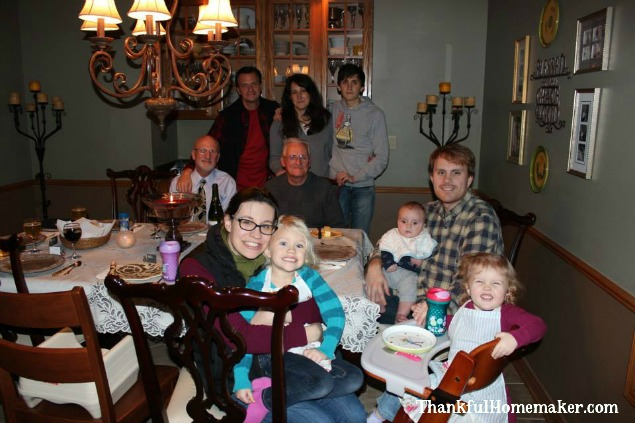 Christmas Eve Dinner last year with our dear friend Grandpa Bob spending the evening with us.
