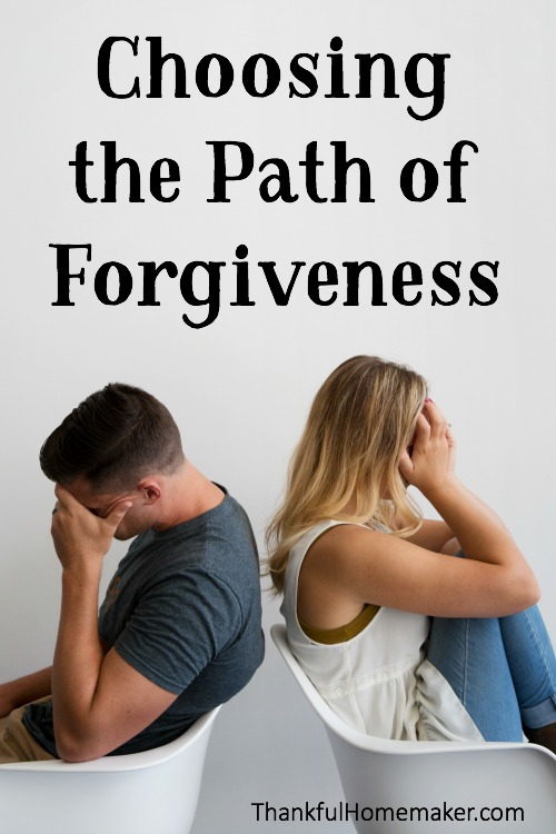 Forgiveness is a choice. @thankfulhomemaker