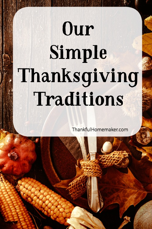 Thanksgiving is a sweet time to recognize as a family and express appreciation for all the benefits we've received from God and others.