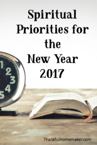 Spiritual Priorities for the New Year 2017