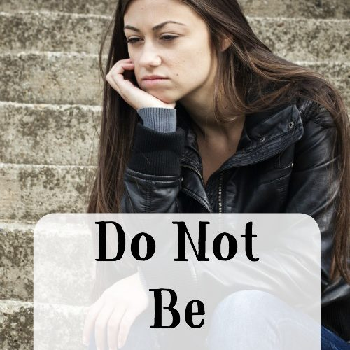 Do Not Be Anxious