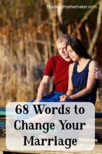 68 Words to Change Your Marriage