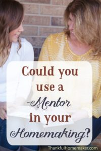 Could You Use a Mentor in Your Homemaking?