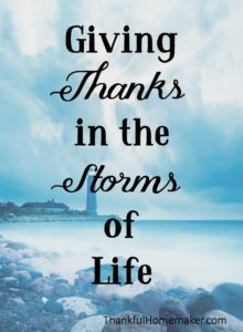 Giving Thanks in the Storms of Life