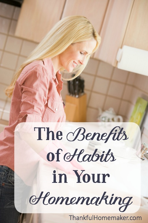 When we have built good habits into our home keeping they can become time savers for us and create more freedom into our days. @mferrell