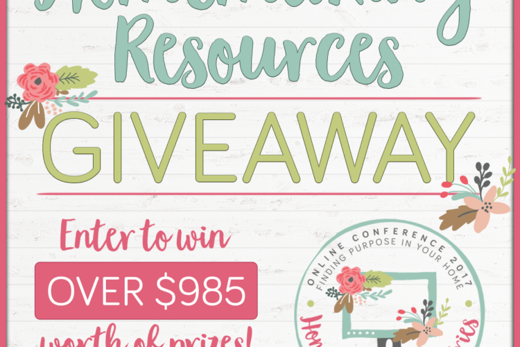 Homemaking Resources Giveaway! {Enter to Win over $985 in Prizes!}