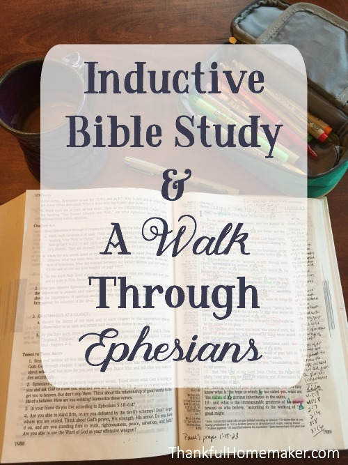 Studying a book inductively opens up spiritual riches I never realized were there. @mferrell